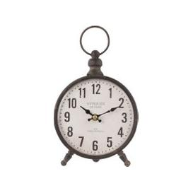 image-Black Metal and White Paper Desk Clock 17x28