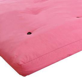 image-15cm Futon Mattress Symple Stuff Size: Single (3'), Colour: Pink