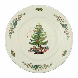 image-Marie Luise Ivory Christmas Dining Plate Seltmann Weiden Size: 2.5cm H x 27cm diameter