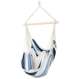 image-Cormier Hanging Chair Freeport Park Colour: Blue/White