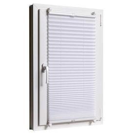 image-Blackout Pleated Blind Zipcode Design Size: 130cm L x 80cm W, Colour: White