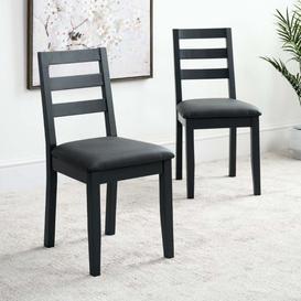 image-Eden Ink Grey Dining Chair Set of 2
