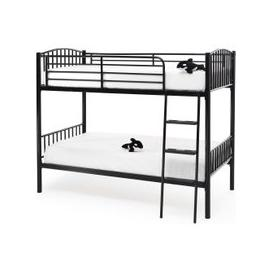 image-Serene Oslo Black Metal Twin Bunk Bed