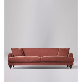 image-Swoon Chorley Three-Seater Sofa in Pimpernel Smart Wool With Short Dark Feet