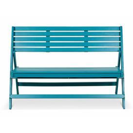 image-Doak Wooden Bench Sol 72 Outdoor Colour: Blue