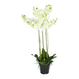 image-Silk-ka - Artificial Orchid Plant - Green