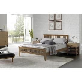 image-Sareer Sandhurst Wooden Bed Frame - Oak - Double