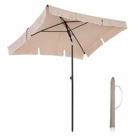 image-Jakobe 2.3m x 1.2m Rectangular Traditional Parasol Freeport Park Fabric Colour: Taupe