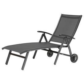 image-KETTLER Surf Folding Adjustable Sun Lounger, Grey