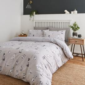 image-Catherine Lansfield Delightful Dogs Duvet Cover and Pillowcase Set Grey
