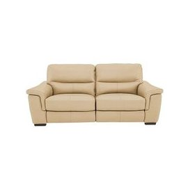 image-Aneto 3 Seater Leather Sofa - Beige- World of Leather