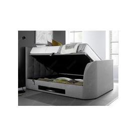 image-Kaydian Design Barnard 6FT Superking Ottoman TV Bed,Light Grey
