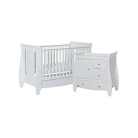 image-Tutti Bambini Katie Cot Bed 2 Piece Nursery Set in White