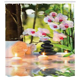 image-Candles Shower Curtain East Urban Home Size: 240cm H x 175cm W