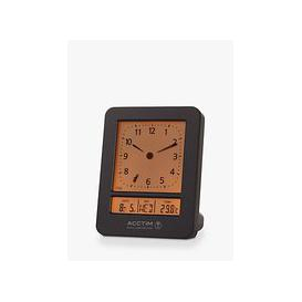 image-Acctim Sinclair Radio Controlled Analogue/Digital Alarm Clock, Black