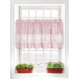 image-Heaney Slot Top Semi Sheer Curtain Brambly Cottage Panel Size: 150 W x 30 D cm, Colour: Power Pink