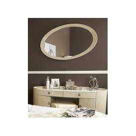 image-Elanor Walnut Oval Wall Mirror