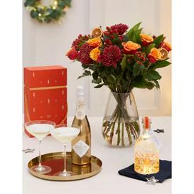image-M&S Clementine Light Up Snow Globe Gin Liqueur & Bouquet Gift (Delivery from 2nd December 2021)