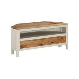 image-Trimble Corner TV Stand In Spanish White Painted