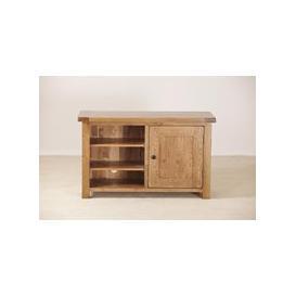 image-Rustic Oak TV Unit - Standard