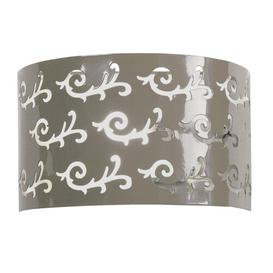 image-Severine 1-Light Flush Mount Mercury Row Finish: Tapue