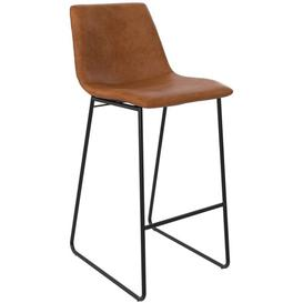 image-Alphason Bowden Caramel Maple Faux Leather Barstool - S022413TUK