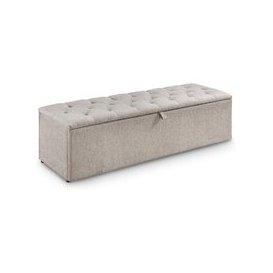 image-Casper Contemporary Fabric Blanket Box In Mink Chenille
