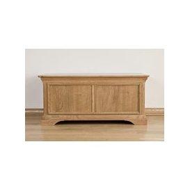 image-Bordeaux Oak Blanket Box