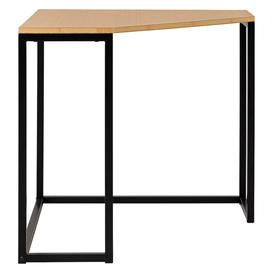 image-Nathan Black And Bamboo Corner Desk, Black And Bamboo