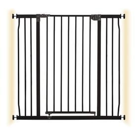 image-Cathey Baby Gate Symple Stuff Colour: Black, Size: 295.28cm H x 37.4cm W x 38.39cm D