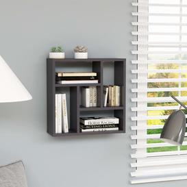 image-Damarus Wall Shelf Brayden Studio Finish: High Gloss Grey