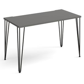 image-Tufnell Large Wooden Laptop Desk In Onyx Grey With Black Legs