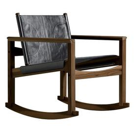 image-Peglev Rocking chair - Rocking chair by Objekto Black,Dark wood