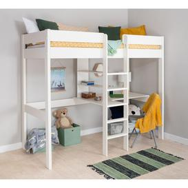 image-Single (3') High Sleeper Bed with Desk and Shelf Stompa