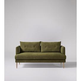 image-Swoon Kalmar Two-Seater Sofa in Racing Green Smart Leather With Light Feet