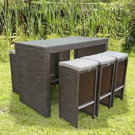 image-6 Seater Bar Table Set Kampen Living