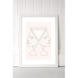 image-Flower Love Child Gemini Wall Art Print - White UK 3 at Urban Outfitters