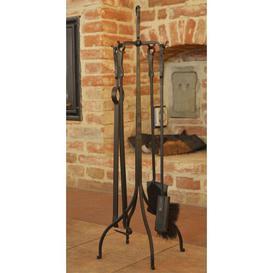 image-Karon 5 Piece Wrought Iron Fireplace Tool Set Williston Forge