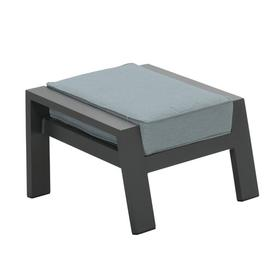 image-Thorbern Stool with Cushion Sol 72 Outdoor Colour (Fabric): Mint, Colour (Frame): Charcoal