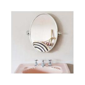 image-Otto Antique Silver Oval Tilting Mirror