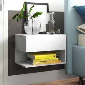 image-Joshua Bedside Table Zipcode Design Colour: White