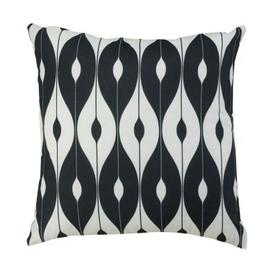 image-Glendale Continental 18 Inch Square Scatter Cushion Black And White