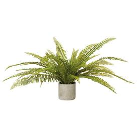 image-Faux Potted Fern Plant - Green