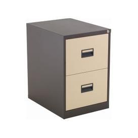 image-Value Line Metal Filing Cabinet, Coffee/Cream