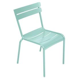 image-Luxembourg Stacking chair - Metal by Fermob Lagoon blue