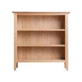 image-Bayview Light Oak Small Wide Storage Bookcase