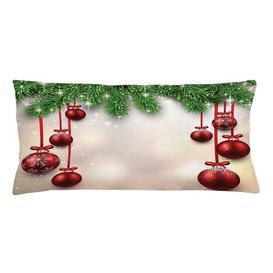image-Izabela Christmas Balls Ribbons Outdoor Cushion Cover Ebern Designs