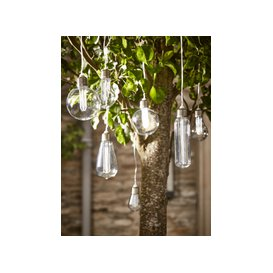 image-Solar Vintage Style Bulb String Lights