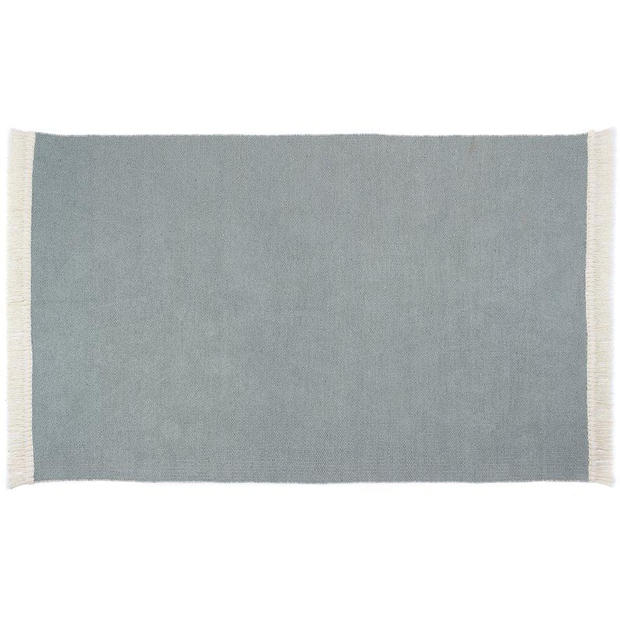 image-Rustic Plain Rug 80 x 150cm, Sky Grey