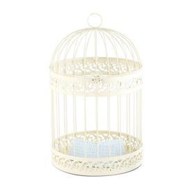 image-Classic Treport Decorative Bird House Fleur De Lis Living Finish: Ivory